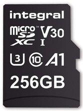 256GB microSDXC card, V30, 100MB/sR / 70MB/sW