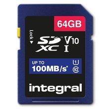 64GB microSDXC card, V10, up to 100MB/s