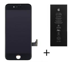 iPhone 7 batterij / accu + Lcd scherm zwart origineel set (met gratis gereedschap)