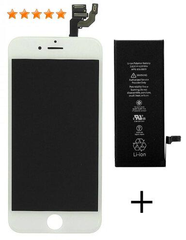 Accu + LCD wit iPhone 6 origineel set