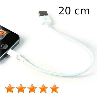 Kabel iPhone iPad iPod lightning kort 20 cm wit