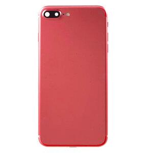 Achterkant - Rood, voor model iPhone 7 Plus (excl. Logo)