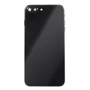 Achterkant - Glossy Black, voor model iPhone 7 Plus (excl. Logo)