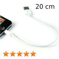 Lightnig kabel 20 cm kort wit